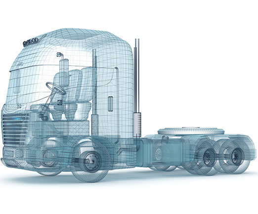 outline of a truck